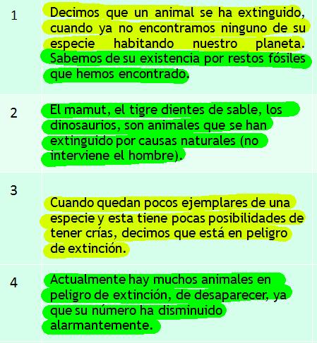 ideas principales de un texto: