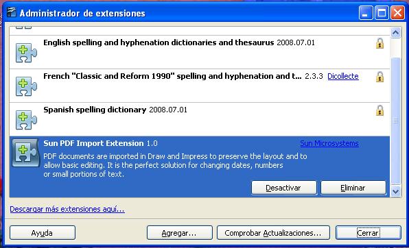 Extension gratis sun pdf import
